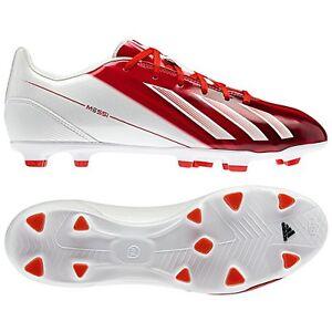 Contra la voluntad Y así Soportar  adidas F10 TRX FG Messi 2013 Soccer Shoes Red/White New miCoach Compatible  | eBay