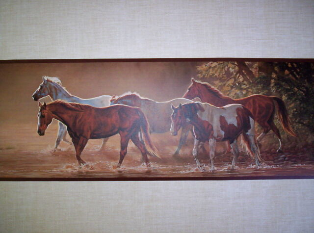 SALE! Western Horses 2  Colors Cowgirl Mares /& Foals Wallpaper Border