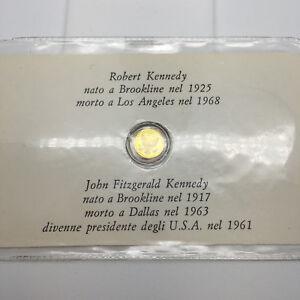 MONETA-PIU-PICCOLA-DEL-MONDO-in-oro-8-kt-raffigurante-Robert-e-John-Kennedy