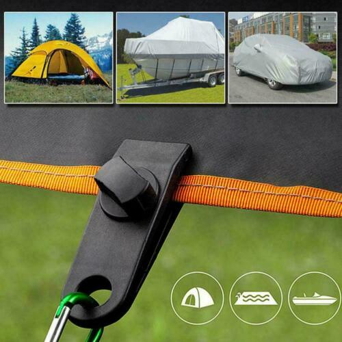10x Camping Tent Added Pull Point Windproof Fixed Tarp Linoleum Tent Clips