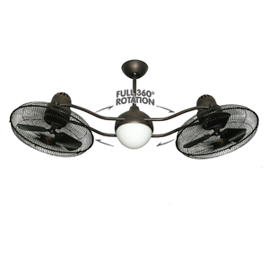 Image Is Loading Damp Outdoor Indoor Rotating 50 034 Dual Ceiling