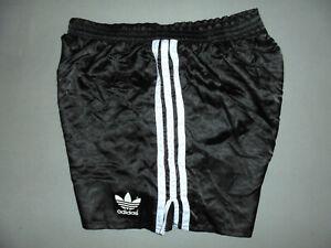 vintage slovenia 80s Adidas Sprinter Nylon Glanz shorts 80er sport hose D6 M