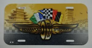 IMS-Indianapolis-Motor-Speedway-Wings-Wheel-Flags-Pagoda-License-Plate-Indy-500