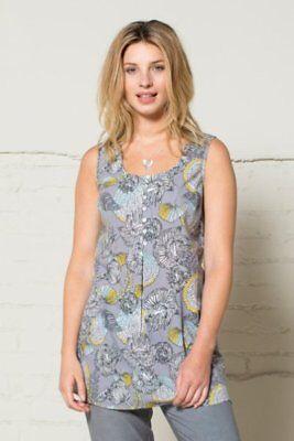 NOMADS V Neck Cotton Smart Blouse Summer  Sleeveless Top Tunic FairTrade DA42