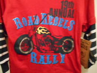 Boys Little Rebels 24 Months Pants & Pull Over Shirt With Matching Hat...nwt