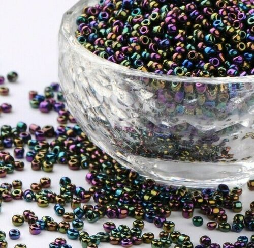 2mm Colourful Glass Seed Beads for Necklaces Bracelets FREE POSTAGE 50g