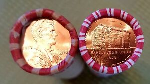 2009 P Lincoln Cent Log Cabin Roll