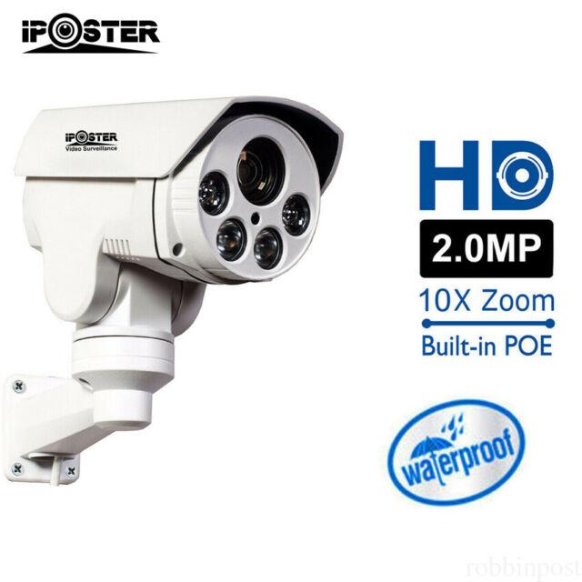 2MP 10x POE PTZ Camera Optical Zoom CCTV 1080P IP66 Surveillance Cameras//US Ship