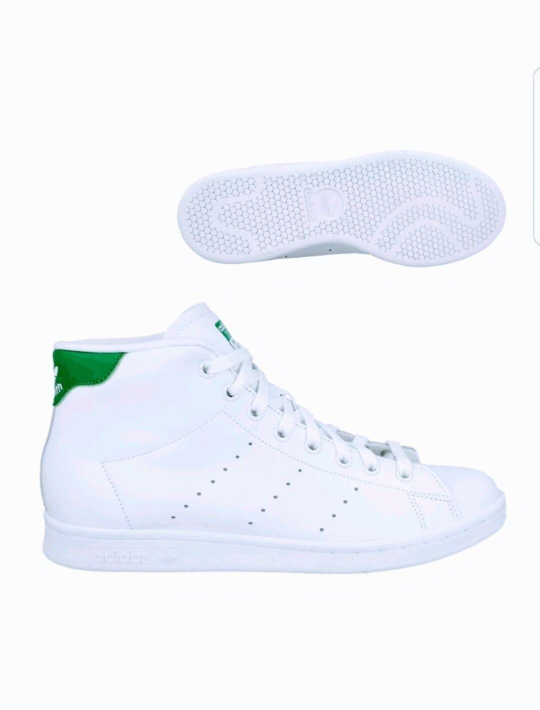 adidas mens hi top 13.5 stan smith ausbilder schuhgröße 13.5 top weiß - grüne rrp - 99 736203