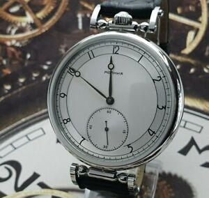 Watch Marriage 3602 Silver dial Dress Men's Big Wristwatch Vintage Style USSR