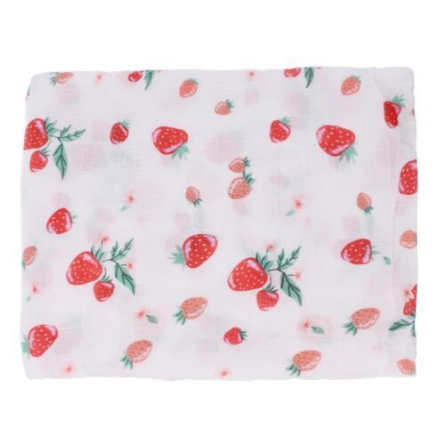 Newborn Baby Kid Soft Muslin Cotton Floral Swaddlwing Shawl Receiving Blankets