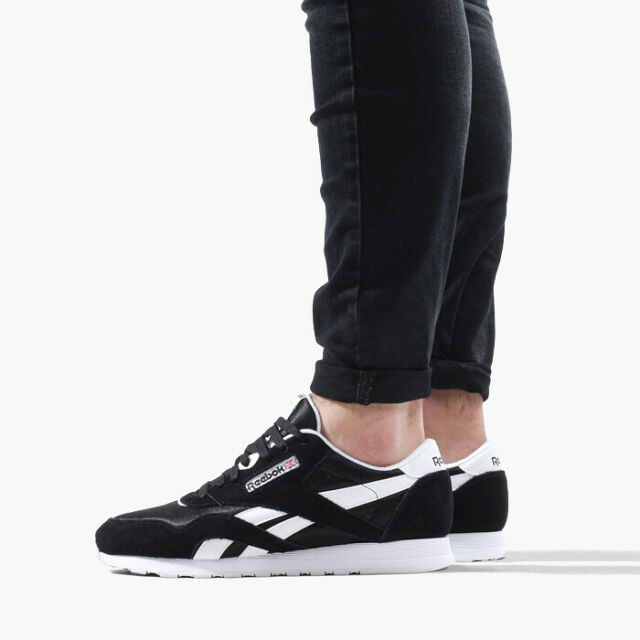 Reebok CL Nylon Black White