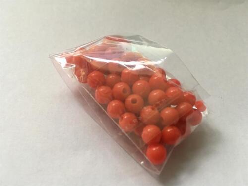 Paquete de 100 Mini Bola Cuentas de Plástico Rojo