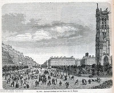 Paris 1877 Orig. Xylografien + Lexikon-artikel Opéra Louvre Sebastopol Concorde Ein Unbestimmt Neues Erscheinungsbild GewäHrleisten