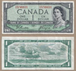Devil-039-s-Face-1954-1-Bank-of-Canada-Beattie-Coyne-VF-EF