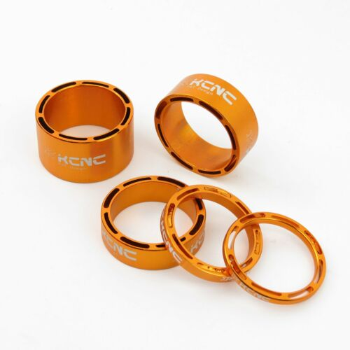 KCNC AL6061 Alloy Bike Bicycle Hollow Headset Stem Spacer 3+5+10+14mm Gold