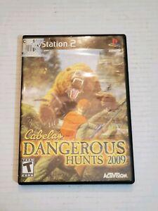 PS2-Cabela-039-s-Dangerous-Hunts-2009-Video-Game-Disc-Case-Manual