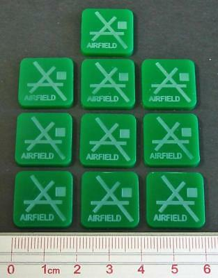 Toys & Hobbies Games x10 Imported From Abroad Axis & Allies Parts/pieces Airfield Markers
