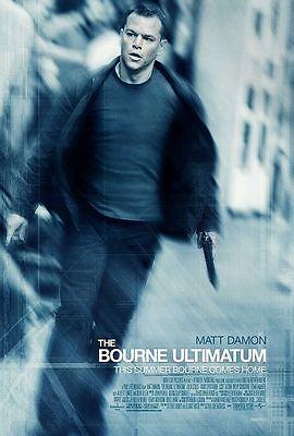 "BOURNE ULTIMATUM 2007 Original DS 2 Sided 27X40"" Movie Poster 1 sheet Matt Damon"