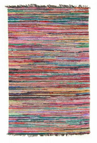 Rug Handmade Indian Chindi Rag Rug 100/% Recycled Cotton Woven Floor Mat Carpet