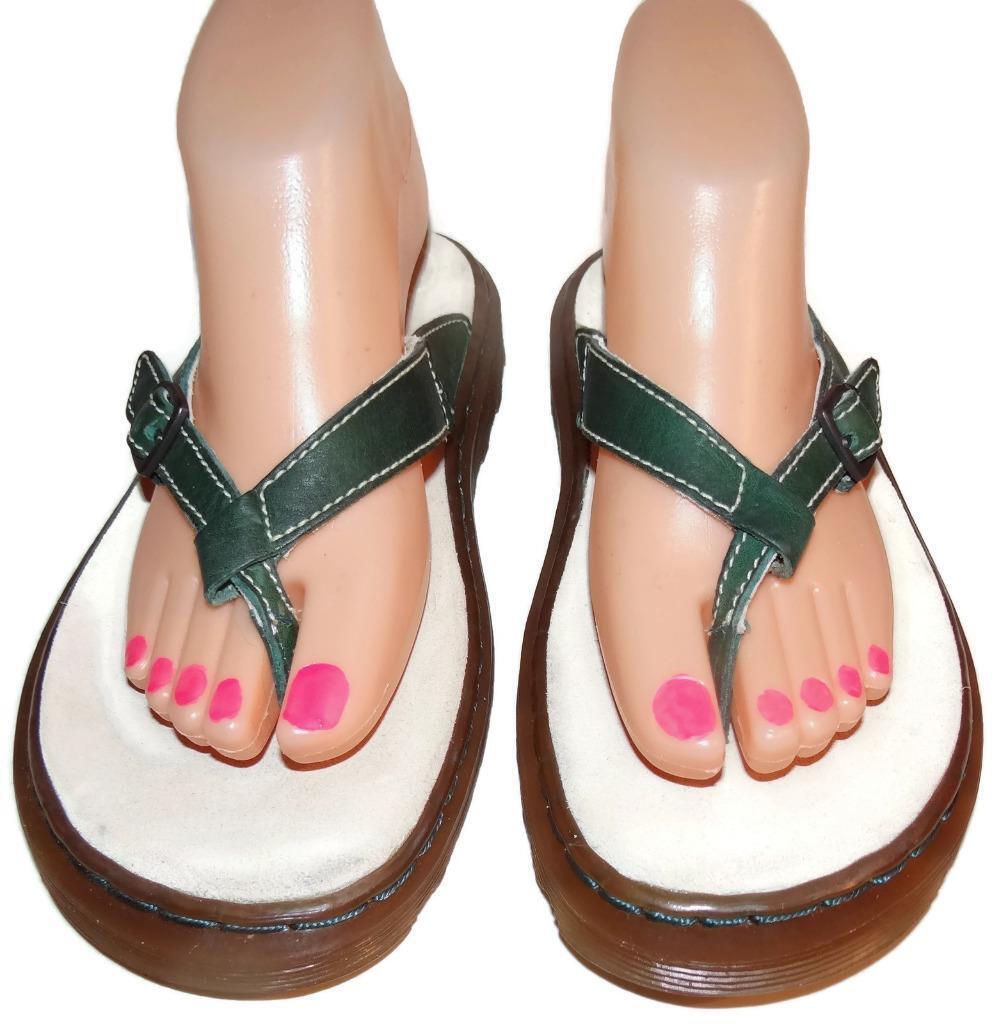 Dr Martens Air Cushion 11695 Green Sandal Thong Sandal Green Flip Flops Women Sz 7 Eu 38 NWOB dfe499