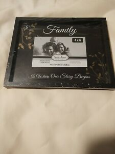 Family Black Picture Frame 10 x 8 Holds 4 x 6 Picture / Wall/Tabletop