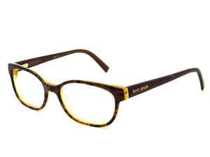 4f2d26544c7 Image is loading Kate-Spade-Eyeglasses-Blakely-ODH2-Tortoise-Yellow- Rectangular-