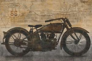 VINTAGE-INDIAN-MOTORCYCLE-ART-PRINT-Ride-by-Dylan-Matthews-Bike-Poster-24x36