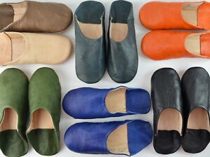 511ddcfe324 Image is loading MENS-MOROCCAN-LEATHER-BABOUCHE-SLIPPERS-SHEEPSKIN-MAHABIS -MULES-