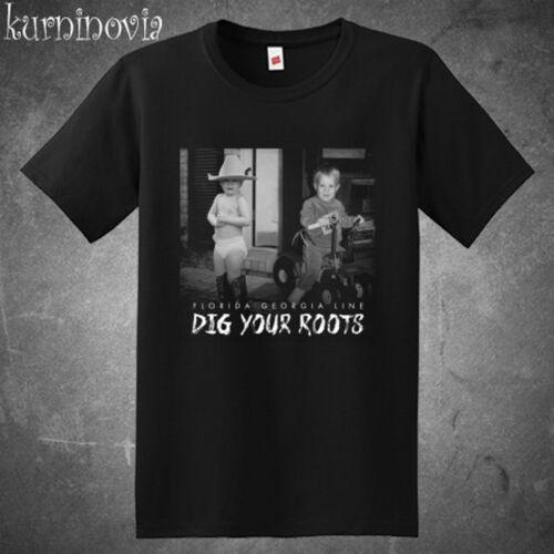 Florida Georgia Line Dig Your Roots Men/'s Black T-Shirt Size S to 3XL