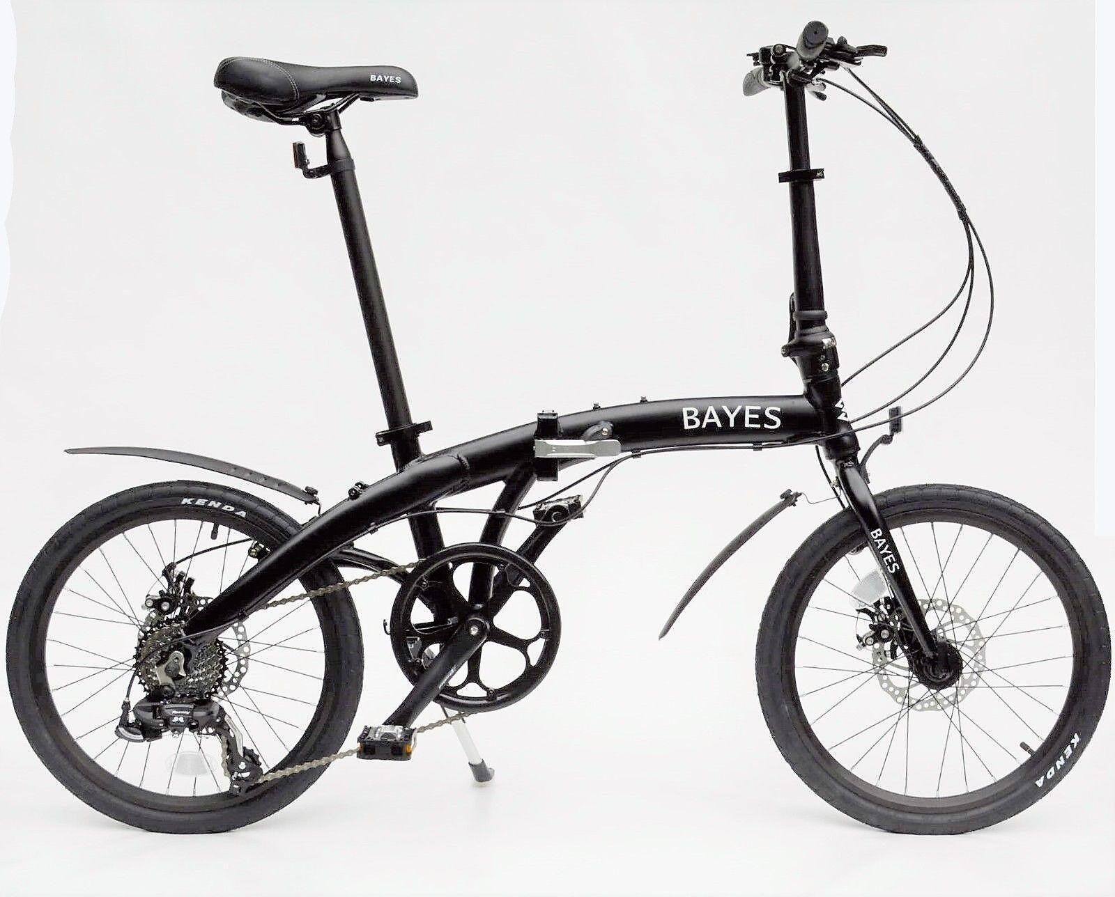 BAYES Faltrad 20   +Transporttasche +Beleuchtung  Scheibenbremsen 8 Gang Shimano