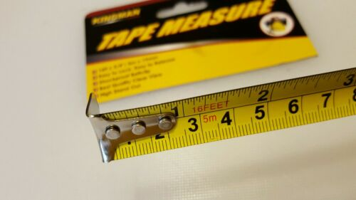 Measuring tape 16 ft x 3//4  inches and metric