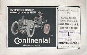 Continental Pneus Pneumatici 1912 Depliant Pubblicitario Automobilia Rouge Ferré - Italia - Continental Pneus Pneumatici 1912 Depliant Pubblicitario Automobilia Rouge Ferré - Italia