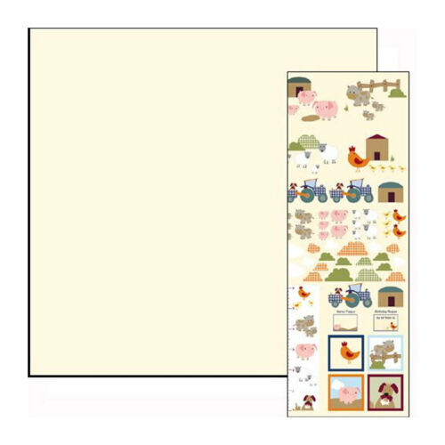 "Dolls House 5832 Wallpaper /""FARM/"" Cream 60x43 cm for doll house NEW #"