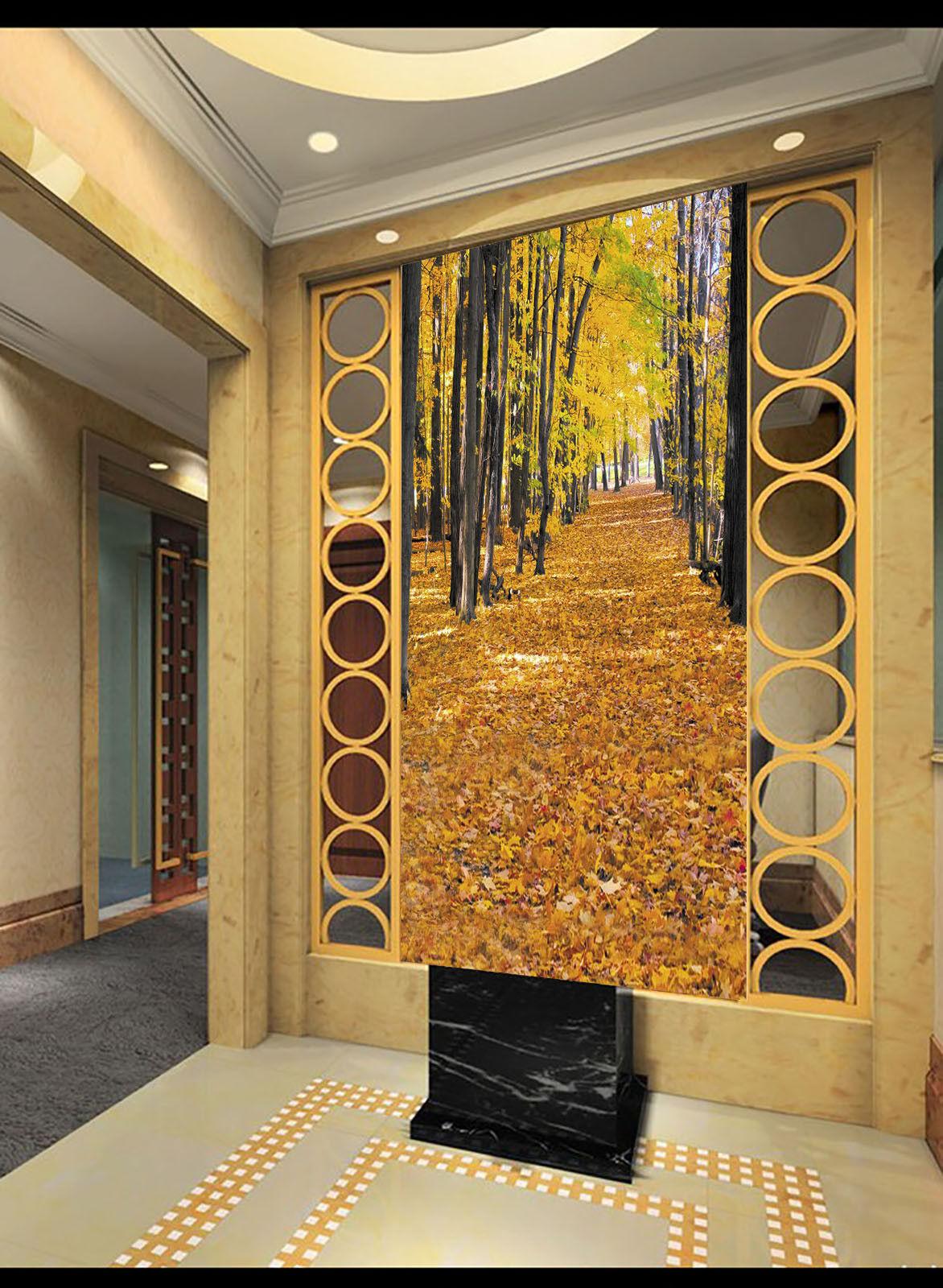3D Herbstwald Natürlich 57 Tapete Tapeten Mauer Foto Familie Tapete Wandgemälde