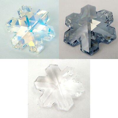 Many Sizes /& Colors Genuine SWAROVSKI 6704 Snowflake Crystals Pendants