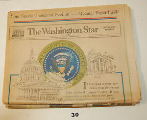 Jimmy Carter Special Inaugural Issue - Washington Star Jan. 20, 1977 #30