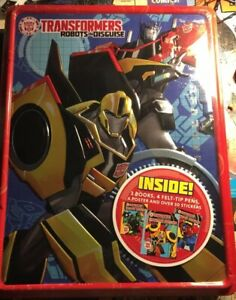 Transformers-Robots-In-Disguise-HASBRO-2017-Books-Stickers-New-Vintage