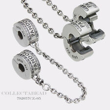 Authentic Pandora Sterling Silver Insignia CZ Safety Chain Bead 792057CZ-05