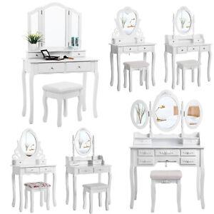 SONGMICS-Coiffeuse-table-de-maquillage-avec-tabouret-tiroir-miroir-et-pivotant