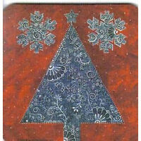 8 Absorbent Drink Coasters Christmas Spirit Designs - Tree
