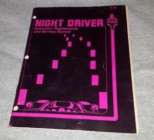 Atari-Video-Arcade-Game-Night-Driver-Manual-Operation-Maintenance-Service-Manual