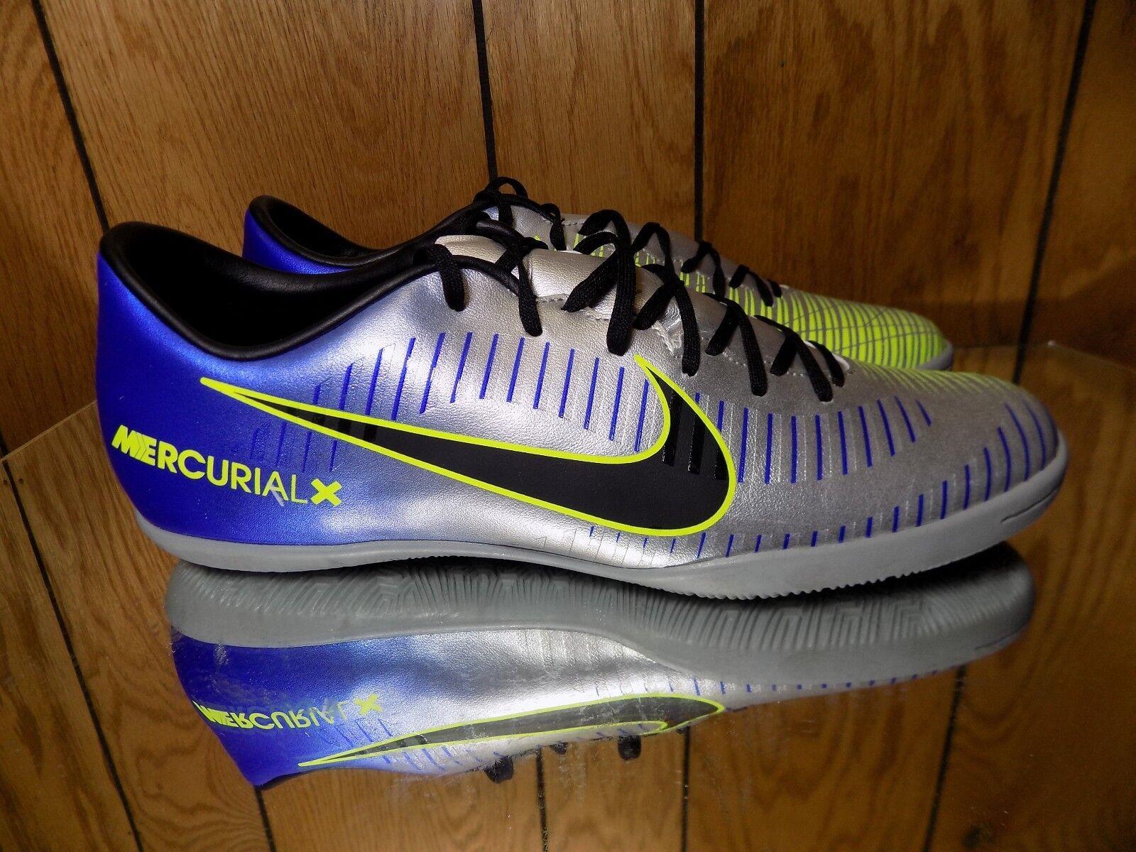 Nike MercurialX Victory 6 NJR IC Men's Indoor Soccer shoes 921516-407 s 9.5