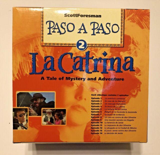 Paso A Paso La CATRINA VHS 7 Tape Set Educational Spanish Mexico Scott Foresman