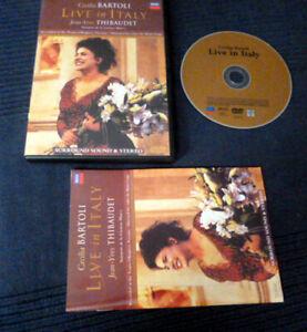 DVD Cecilia Bartoli LIVE IN ITALY Jean-Yves Thibaudet DECCA Vicenza 1998