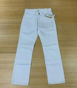 WHITE-DENIM-JEANS-PANTS-SLIM-FIT-ALL-WHITE-HALIFAX-MENS-SZ-30-36-791