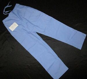 Landau-Drawstring-elastic-back-Cargo-Scrub-pant-Ceil-Blue-BCP-8512-Sz-S-to-XL