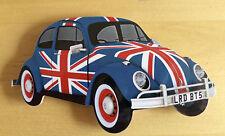 Beetle Fridge Magnet, Union Jack VW Beetle Car Fridge magnet
