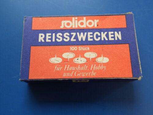 DDR-Reisszwecken OVP Solidor VEB Nadelwerk Ichtershausen Qualität top Zustand