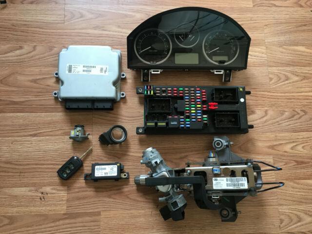 2005 Land Rover Lr3 Ecm Ignition Remote Key Lock Cylinder Fuse Box Cluster Set